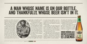 A man whose name is on our bottle, and thankfully, whose beer isn't in it.